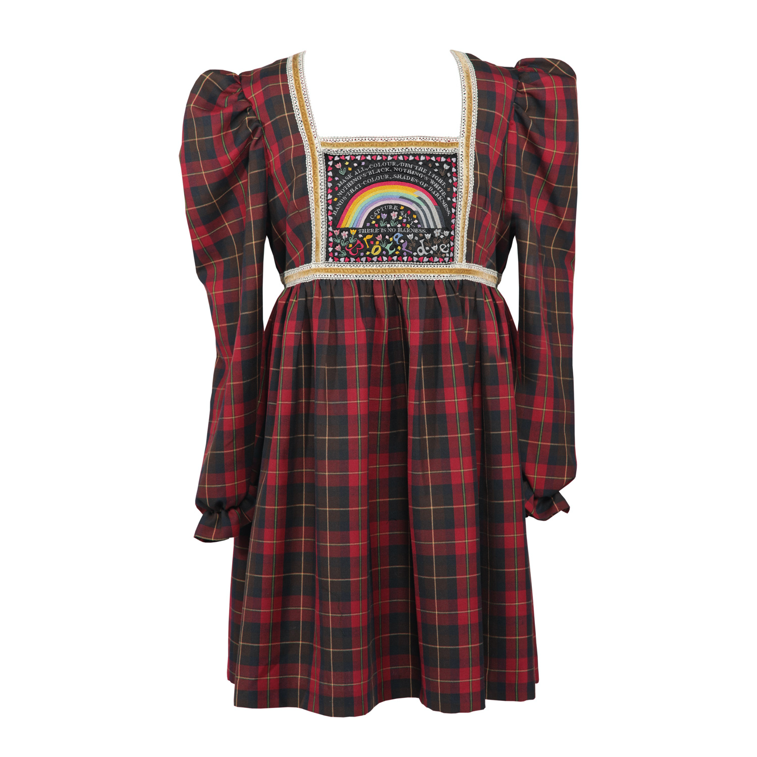 Mask All Colour Tartan Dress