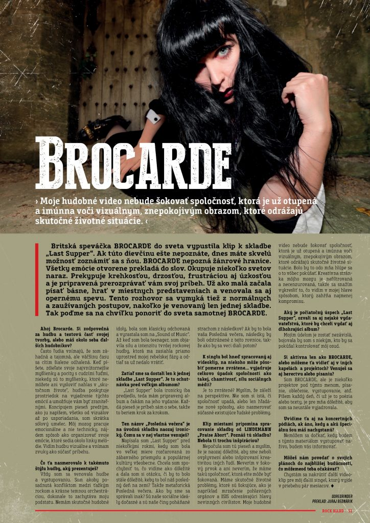 Brocarde Rock Hard Slovakia Interview