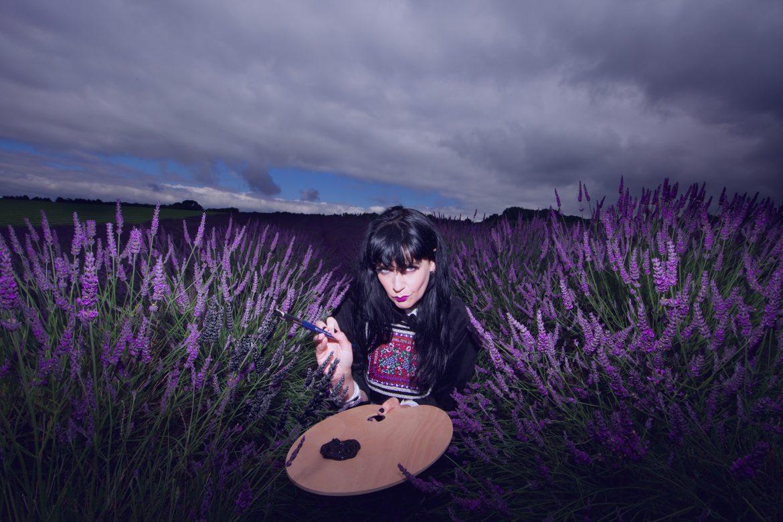 Brocarde painting lavender