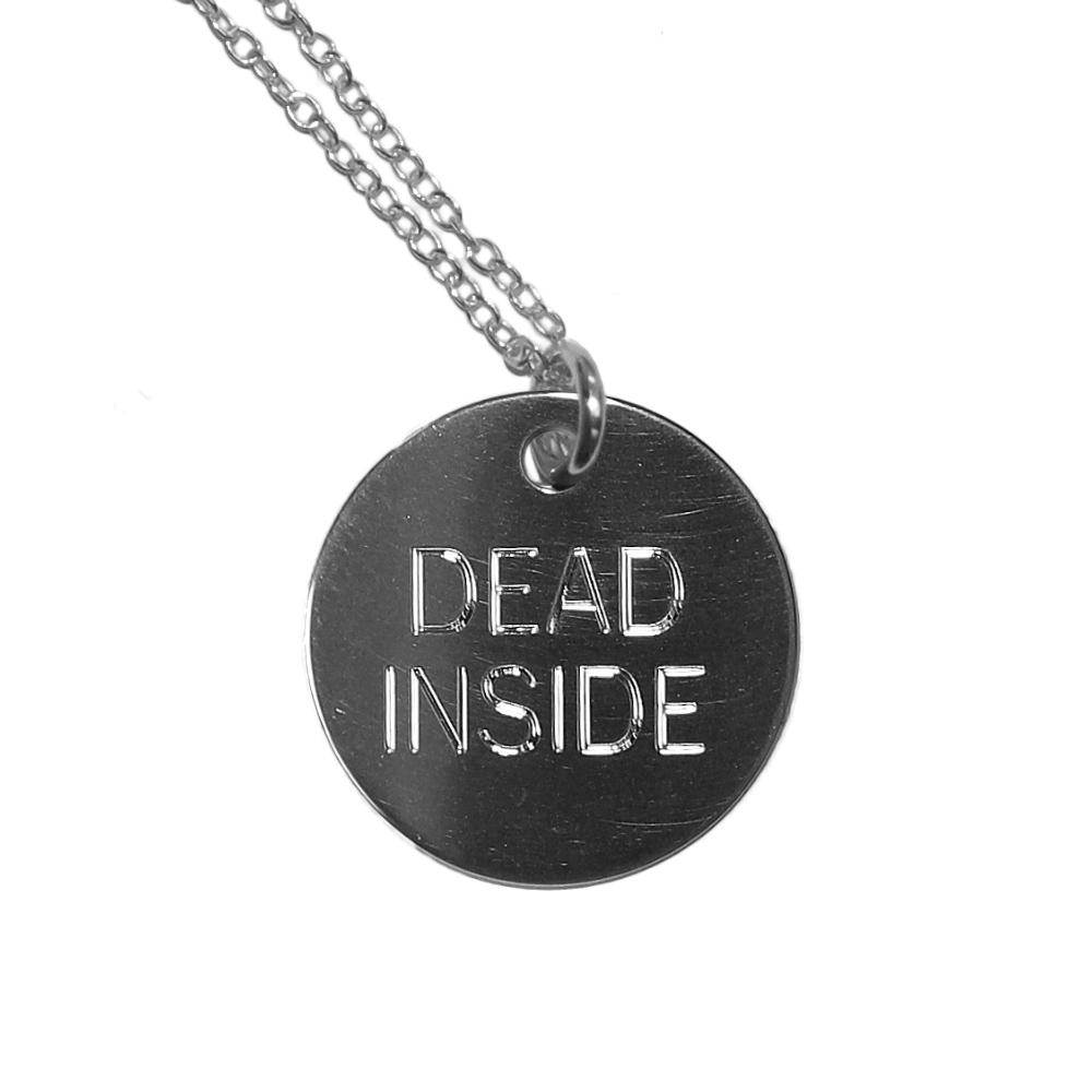 Dead Inside Necklace (Sterling Silver)
