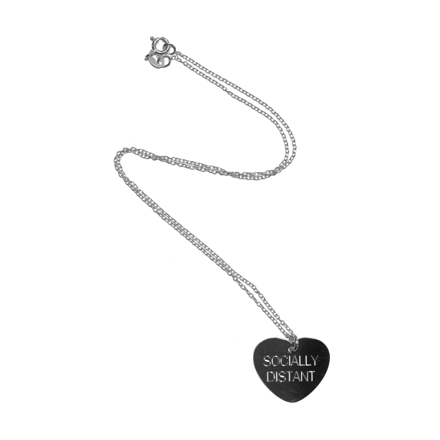 Socially Distant Necklace (Sterling Silver)