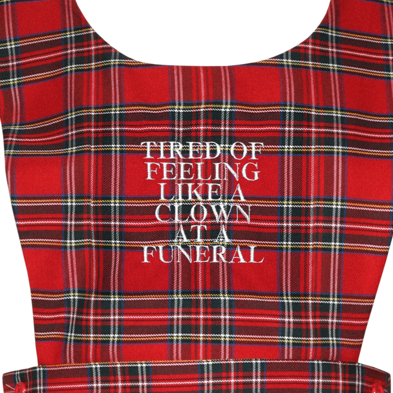 Clown at a Funeral Pinafore Dress